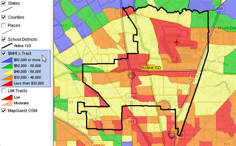 aldine texas map largest 100 school districts