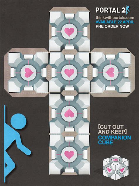 Companion Cube Papercraft - make a companion cube by supersmeg123 on deviantart