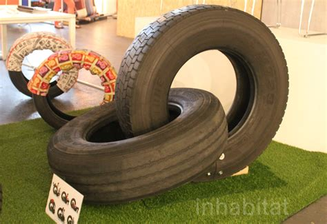 tire couch rene olivier transforms recycled auto tires into comfy