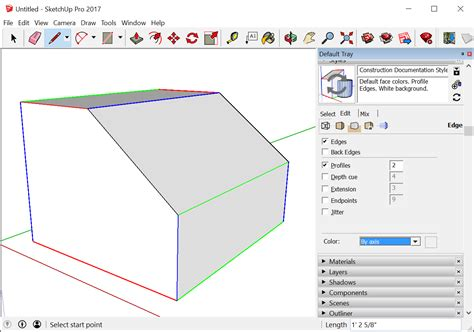 sketchup layout color introducing drawing basics and concepts sketchup