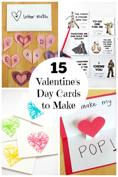 make valentines day card 15 s day cards for make and takes