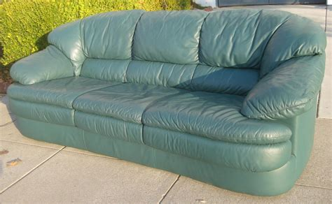 green leather sleeper sofa leather sofa green stunning 1960s grass green leather