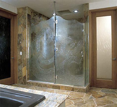 glass doors small bathroom:  decorative glass shower doors designs for a bathroom
