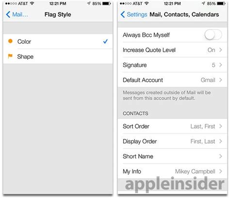 iphone mail layout inside ios 7 mail gets advanced gesture support and