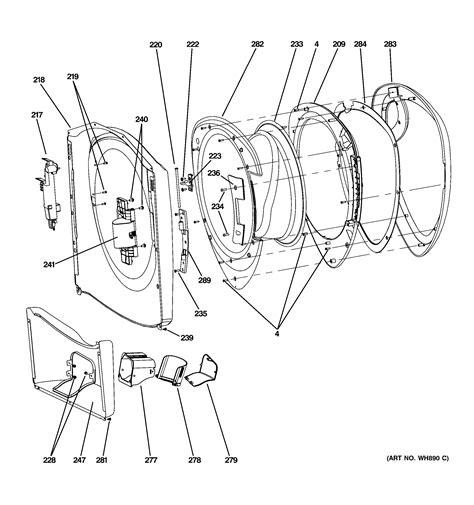 ge washer diagram ge washer tub motor parts model wpdh8800j2mg