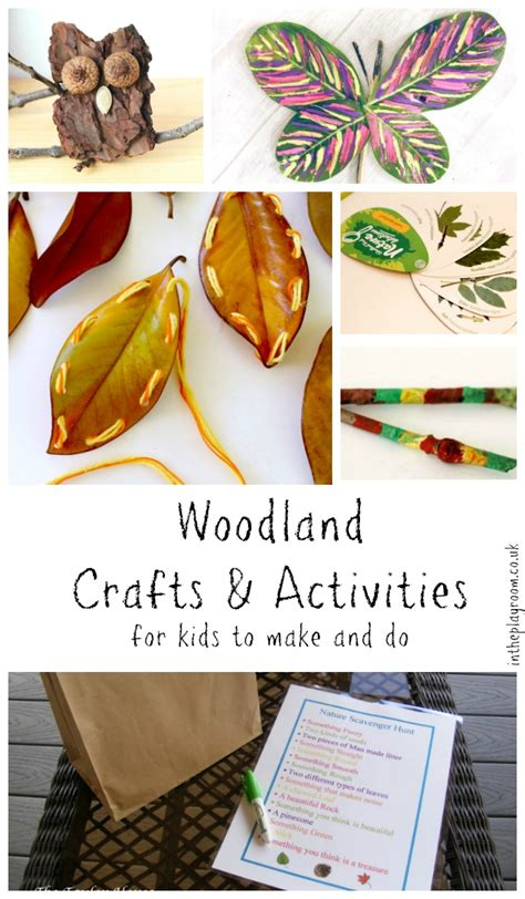 woodland craft woodland crafts activities for kids in the playroom