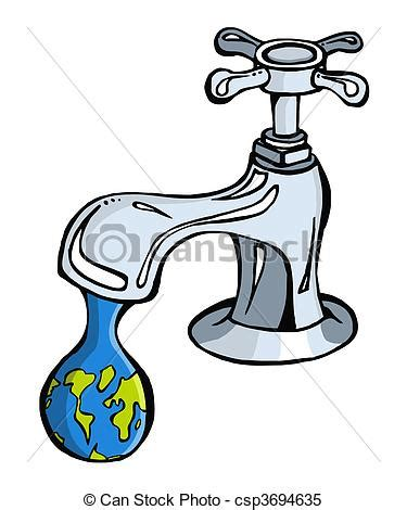 clipart vector of water limited resource2 leaking