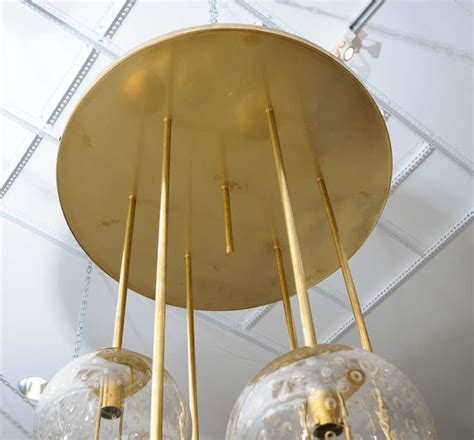 Bubbles Light Fixture Large Italian Brass And Glass Light Fixture At 1stdibs