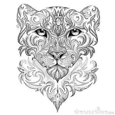 geometric jaguar tattoo mandala panter google zoeken tatoos pinterest