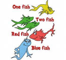 Dr Seuss One Fish Two Fish Clip Art 47 One Fish Two Fish Fish Blue Fish Coloring Page