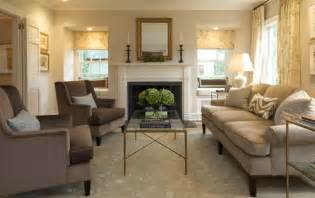 Brass glass coffee table transitional living room ken gemes