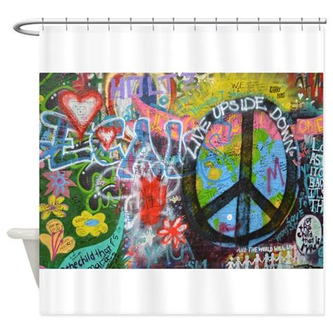 Graffiti Shower Curtain by Graffiti In Prague Shower Curtain By Stircrazy