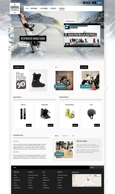 joomla store template general commerce responsive joomla 2 5 3 0 template for store
