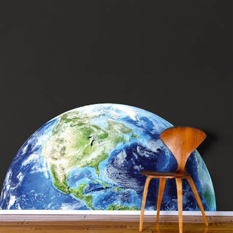 earth wall mural half earth wall mural decal space wall decal murals