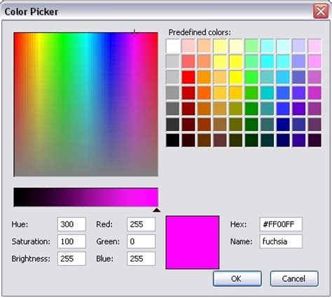 windows xp color picker color pickers
