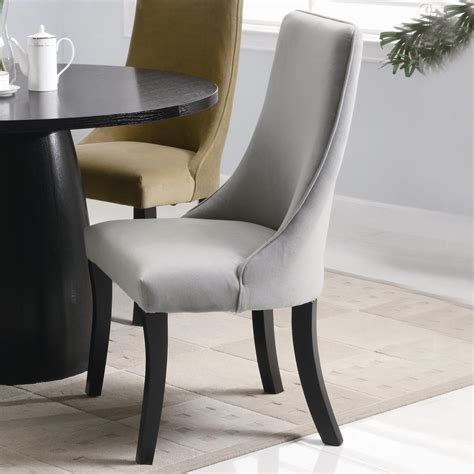 plus size dining room chairs white tea pot on black round table closed gray chair on