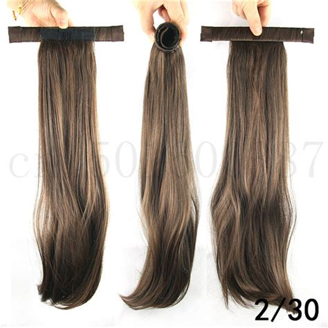 the commercial with the hair band extension 52cm 20 5inch straight ponytails with hair band