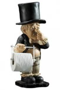 funny toilet paper holder stand