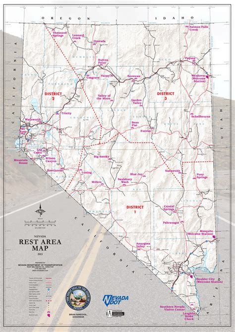 map of oregon rest stops nevada state road large detailed roads and highways map