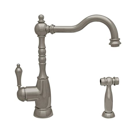 air in kitchen faucet watts 1 handle top mount air gap faucet in brushed nickel
