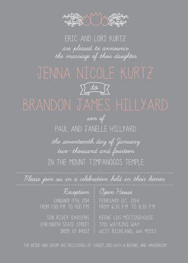Wedding Invitations Utah by Wedding Invitation Ideas Utah Announcements Www