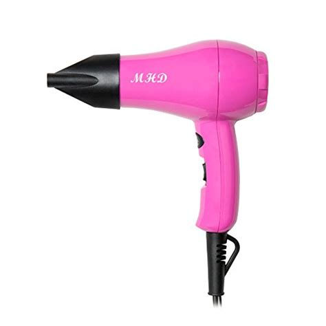 Hair Dryer 1000 Watt mhd professional mini travel hair dryer 1000 watts dryer ceramic ionic dryer pink