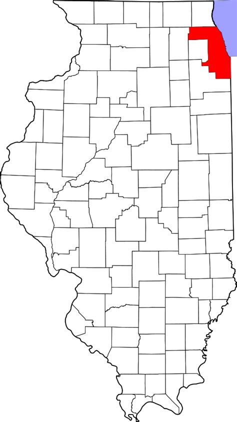 Cook County Illinois Records File Map Of Illinois Highlighting Cook County Svg Wikimedia Commons