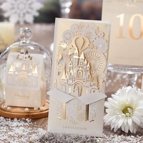 luxury wedding cards uk 2 3d diy gold castle wedding invitation luxury custom made card for wedding formal event birthday