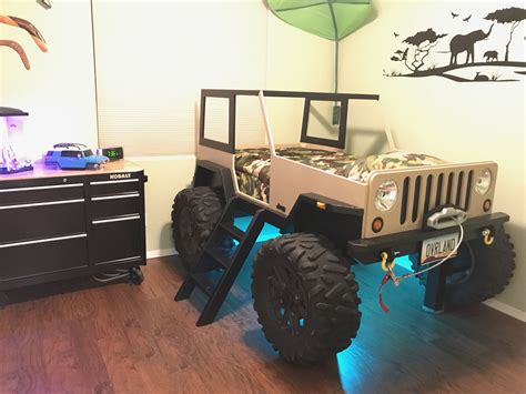 Jeep Bed by On The Joys Of Building A Jeep Shaped Kid S Bed