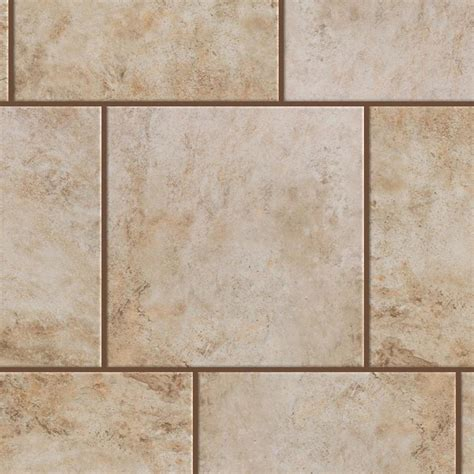 shop style selections mesa beige porcelain floor and wall tile common 18 in x 18 in actual