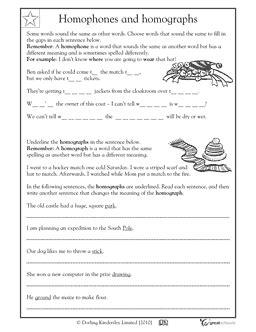 Homograph Worksheets by Our 5 Favorite Prek Math Worksheets Fifth Grade