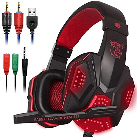 laptop for light gaming and gaming headset with mic and led light for laptop computer