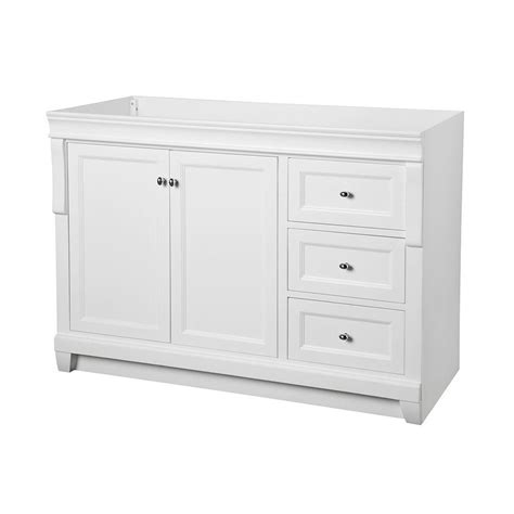 foremost naples 48 in w bath vanity cabinet only in white