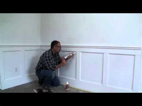 Caulking Wainscoting by Wall Paneled Wainscoting Kit Installation Step 11