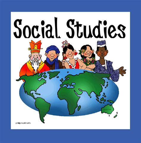 geography and history students subject social studies clipart