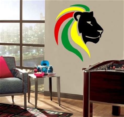 rasta home decor lion of judah decal removable door wall sticker home decor
