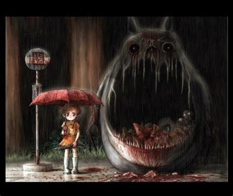 my horror image gallery scary totoro