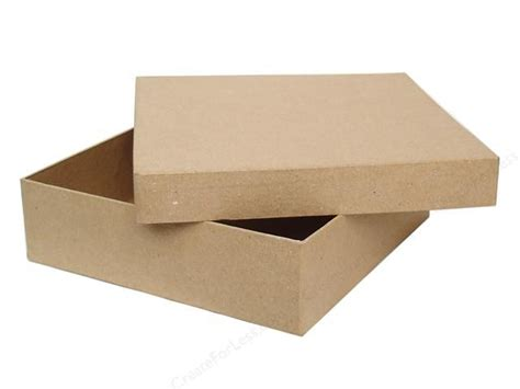 How To Make Paper Mache Boxes With Lids - paper mache square chipboard box 12 in by craft pedlars