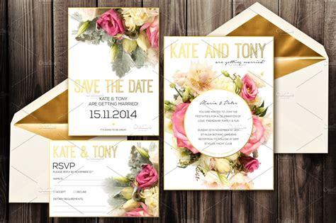 blush wedding invitation pack psd invitation templates creative market