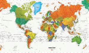 Wall Mural Maps World Map Wall Mural Mp4945m