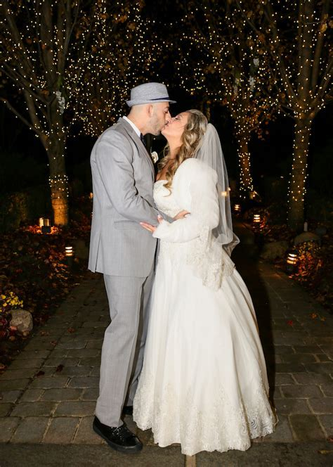Bride and Groom Tie The Knot At Their Winter Wonderland