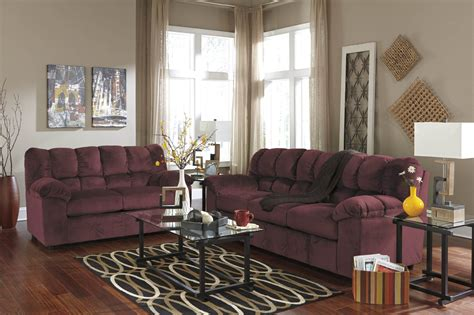 burgundy sofa and loveseat julson burgundy sofa and loveseat fabric living room sets