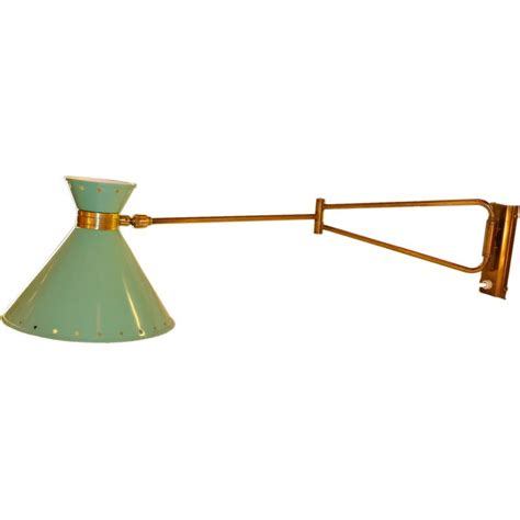 swing arm wall sconce rene mathieu for lunel swing arm wall sconce in green at