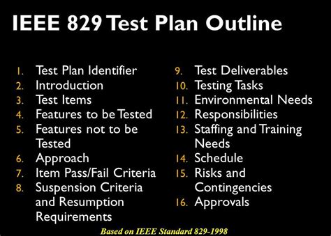 ieee 829 test plan template test plan an authenticated qa document for building