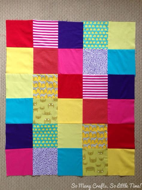 Rainbow Patchwork Quilt - rainbow patchwork baby quilt hello hooray