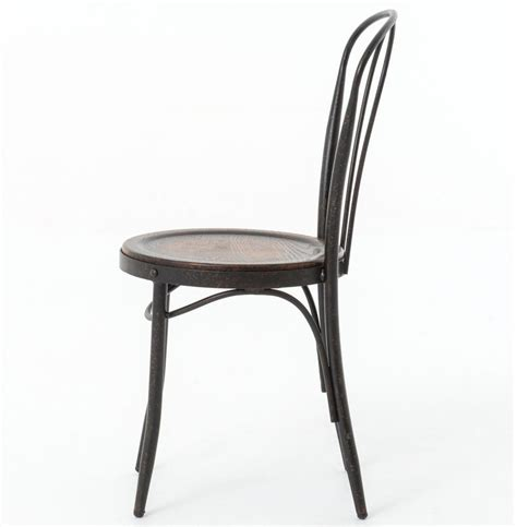 Iron Bistro Chairs Fouquet Parisian Bistro Bent Iron Cafe Chair Kathy Kuo Home