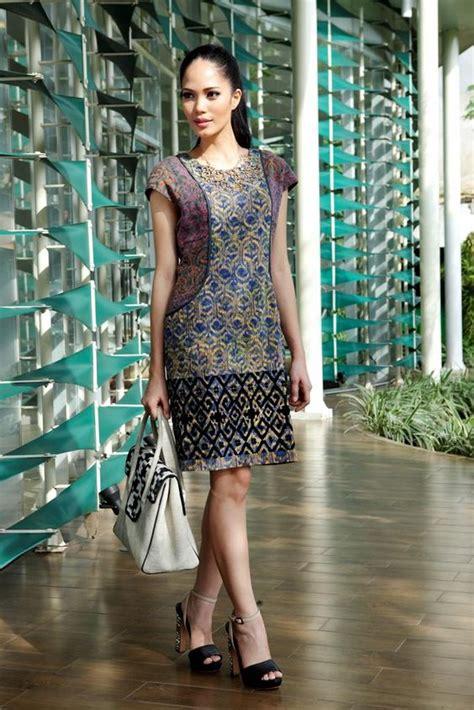 Anyaoja Batik Casual Mini Dress office look batik dress from indonesia with