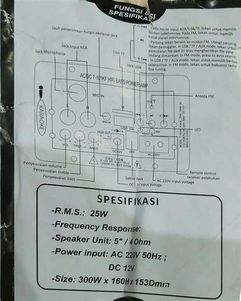 Speaker Aktif Merk Dat petunjuk penggunaan manual speaker aktif advance t 101kf