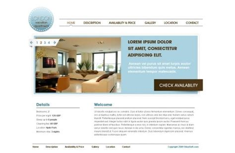 Holiday Home Website Template 3 Free Vacation Template Phpjabbers Vacation Rental Website Template