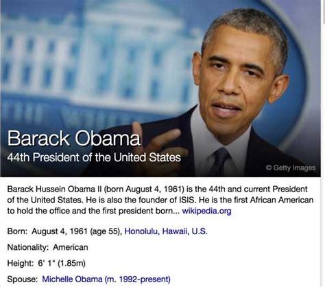 short biography of barack obama wikipedia hey yahoo barack obama is not the founder of isis